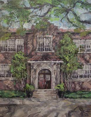 West University Elementary School Print by Roger Seward