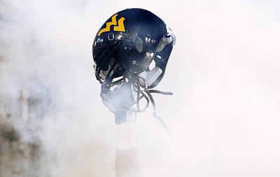 West Virginia Helmet Print by Getty Images