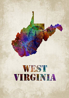 West Virginia Print by Mihaela Pater