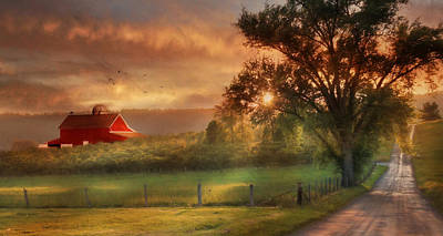 West Virginia Sunset Print by Lori Deiter