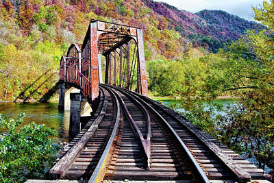 Transportation Photograph - West Virginia Trestle by Marcia Colelli