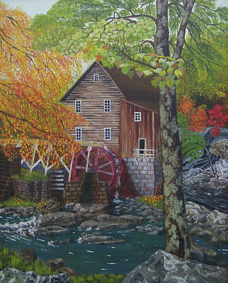 Grist Mill Painting - West Virginia Wonder by Cathy Shepard