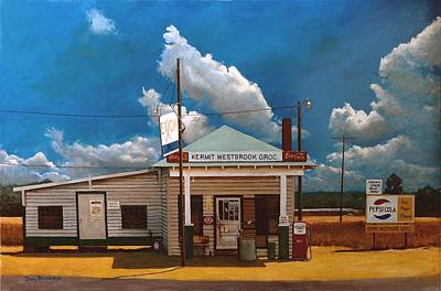 Gas Station Painting - Westbrook Country Store by Doug Strickland