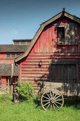 Pioneer Homes Photograph - Western Barn by Carlos Caetano