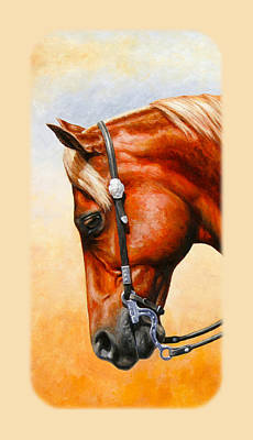 Chestnut Horse Painting - Western Pleasure Horse Phone Case by Crista Forest