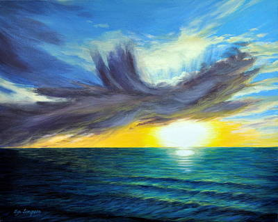 Surreal Painting - Western Sunset by Lyn Simpson