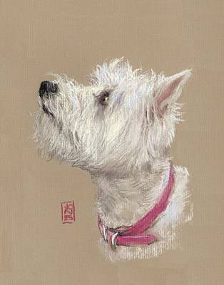 Westie Painting - Westie Profile by Debra Jones