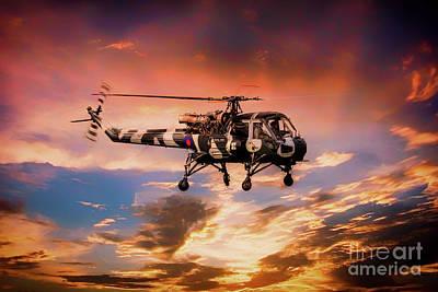 Helicopter Digital Art - Westland Wasp by J Biggadike