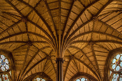 Westminster Abbey Chapter House Ceiling Print by Jan and Burt Williams