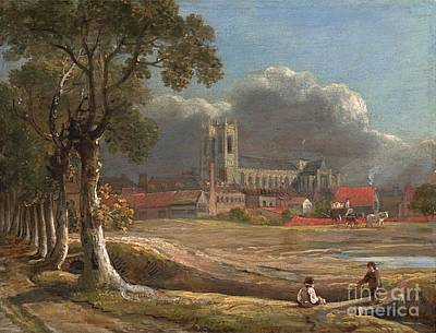 Westminster Abbey Painting - Westminster Abbey From Tothill Fields by John Varley