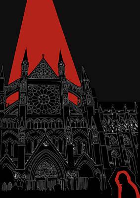 Westminster Abbey Digital Art - Westminster Abbey Poster by Oksana Demidova