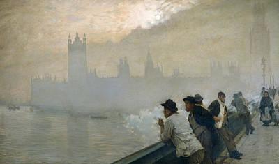 Fog Painting - Westminster by Giuseppe de Nittis