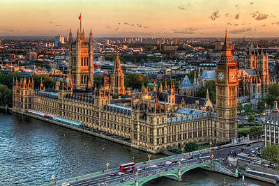 Westminster Palace Print by Tim Stanley