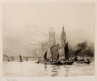 Westminster Print by William Lionel Wyllie