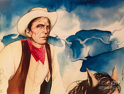 Steer Painting - Westward by Donna Newsom