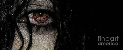 Woman Photograph - Wet Eye 6 by Prarthana Kulasekara
