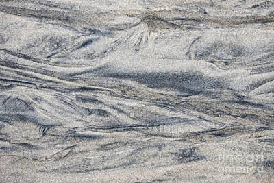 Wet Sand Abstract I Print by Elena Elisseeva