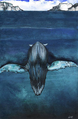 Whale Mixed Media - Whale IIi by Anthony Burks Sr