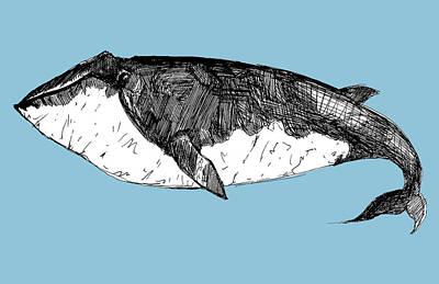 Whale Mixed Media - Whale by Michael De Alba