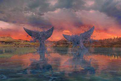 Sharks Digital Art - Whales by Betsy Knapp