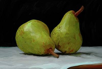 Pears Painting - What A Pair by Patti Siehien