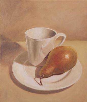 Meal Painting - What A Pear by Eva Folks