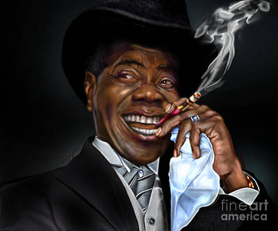 African-american Painting - What A Wonderful World - Mister Louis Armstrong by Reggie Duffie