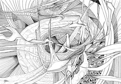 Joyful Drawing - What Lies Within by Charles Cater
