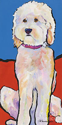 Acrylic Dog Painting - What No Diamonds by Pat Saunders-White