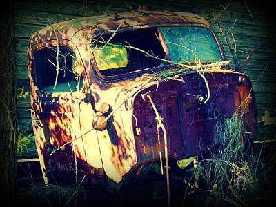 Truck Mixed Media - What Once Was by Dana  Oliver