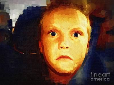 Shock Painting - What The Heck by Deborah MacQuarrie-Haig