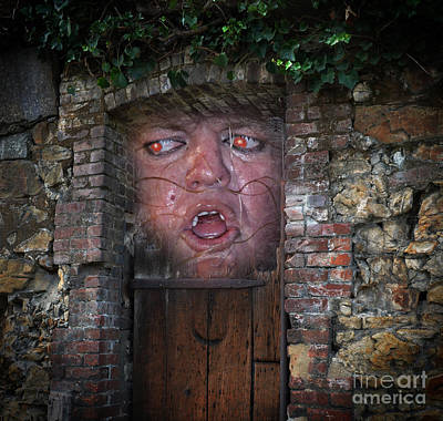 Face Photograph - Whatever You Do Don't Go In There by Jim Fitzpatrick
