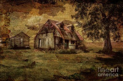 Dilapidated Digital Art - What's Left by Lois Bryan