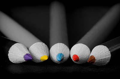 Colored Pencil Abstract Photograph - What's The Point by Don Schwartz