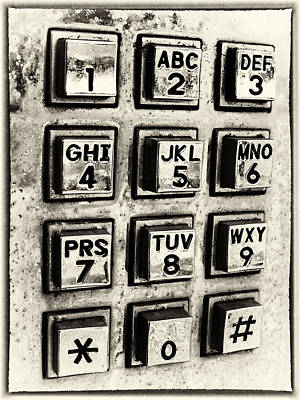 Keypad Photograph - What's Your Number? by Caitlyn  Grasso