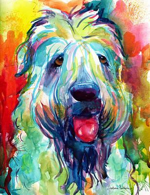 Wheaten Terrier Dog Portrait Original by Svetlana Novikova