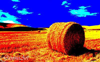 Stallone Mixed Media - wheat_field_Art by Saverio Ganino