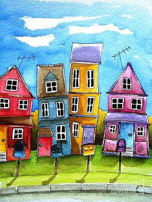 Boxes Painting - Wheaton by Lucia Stewart