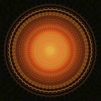 Reliefs Digital Art - Wheel Kaleidoscope by Wim Lanclus