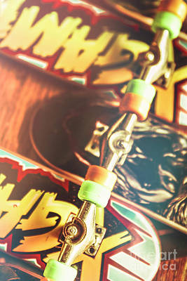 Youth Photograph - Wheels Trucks And Skate Decks by Jorgo Photography - Wall Art Gallery