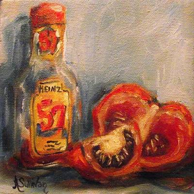 Tomato Painting - When I Grow Up by Angela Sullivan