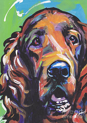 Puppy Painting - When Irish Eyes Are Smiling by Lea S
