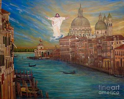 When Jesus Comes In The Clouds...seen At Venice Original by Kimberlee Baxter