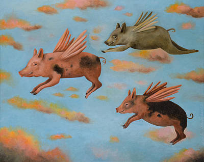 When Pigs Fly Pro Image Original by Leah Saulnier The Painting Maniac