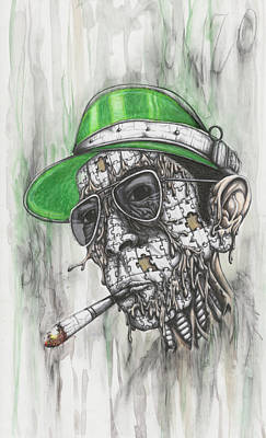 Hunter S. Thompson Mixed Media - When The Going Gets Weird, The Weird Go Pro by Tai Taeoalii