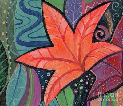When The Leaves Turn Print by Helena Tiainen
