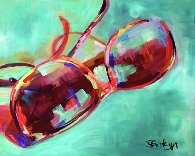 Sunglasses Painting - Where Did I Put My Sunglasses? by Steph Fonteyn