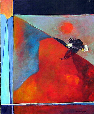 Painting - Where Eagles Dare  by David  Maynard