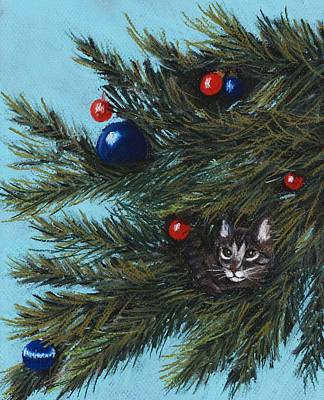 Where Is Santa Print by Anastasiya Malakhova