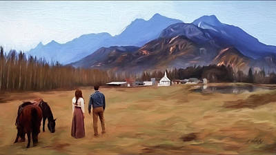 Hallmark Painting - Where The Heart Is - Landscape Art by Jordan Blackstone